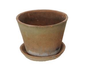 Vaso in terracotta con sottovaso Jusy - 25X18 CM