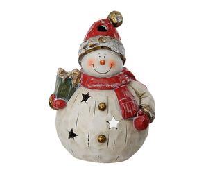 pupazzo di neve decorativo portacandela - 29x43x26 cm