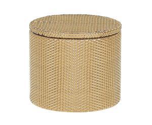 pouf contenitore in vimini basket - d 50/H 45 cm