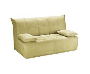 divano letto a 2/3 posti in cotone morfeo crema - 170x95x88 cm
