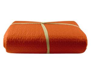 trapuntino matr. basic arancione - 260x260 cm