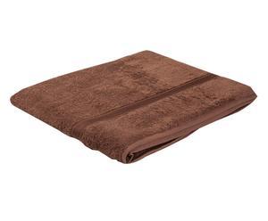 Telo bagno in puro cotone Madison marrone chiaro - 100x160 cm