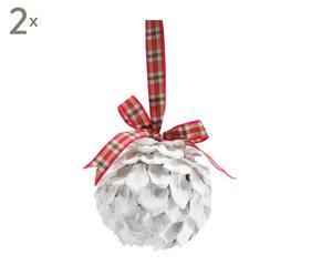 set di 2 palline decorative country - d 11 cm