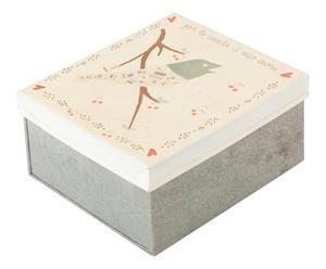 scatola portatutto uccellino - 15x7x13 cm