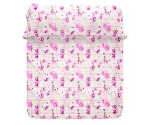 Quilt matr. in raso Anita rosa e fucsia -  270X260 cm