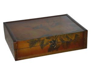 Cofanetto portagioie in legno Old flowers - 31X9X22 cm