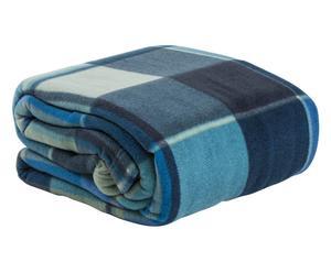 plaid happy scozia blu - 210x250 cm