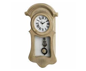 Orologio da parete in legno con pendolo Mary - 30x58x12 cm