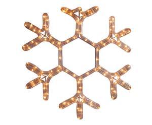 Fiocco di neve da parete illuminato a LED - 37x37 cm