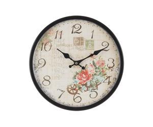 Orologio da parete in metallo Rose - D32 cm