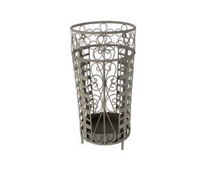 Portaombrelli in metallo Flower grigio - 22X45 cm