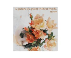 Stampa su tela con telaio in legno Bouquet - 30X30 cm