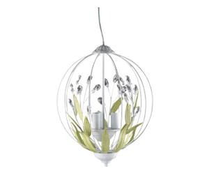 lampadario in metallo feuille - d 35/h 35 cm