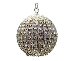 Lampadario in metallo e plastica Silver - D25 cm