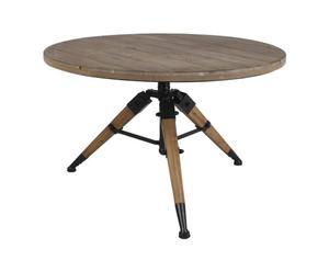 Tavolo in pino e metallo Easy - 130X76X44 cm