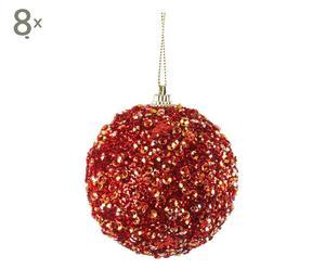 set di 8 palline decorative reddy - d 8 cm
