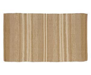 tappeto double face in cotone casablanca beige - 170x240 cm