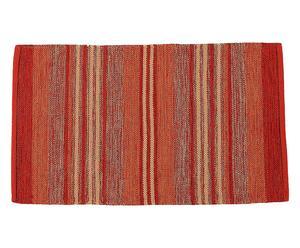 tappeto double face in cotone casablanca rosso - 170x240 cm
