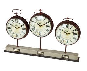 orologio da tavolo a 3 quadranti elisir - 69x46x8 cm