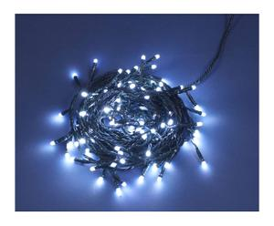 Catena con 96 LED a luce opale bianca - L 11 m