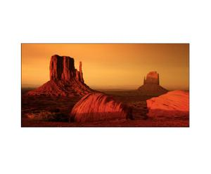 Stampa su tela Sunset on Grand Canyon - 77x143 cm