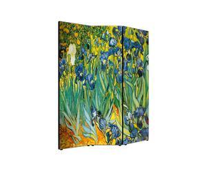Separe' monofacciale a 3 ante Iris di Van Gogh - 136X176 cm