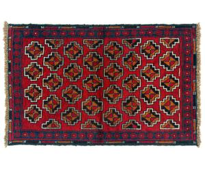 tappeto Zakni rosso/panna - 130x80 cm