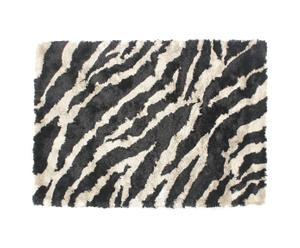 tappeto shaggy jungle zebra - 230x160 cm