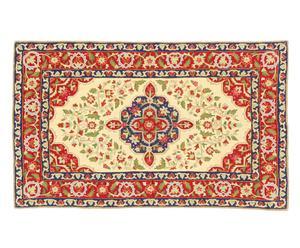 tappeto in puro cotone Chain Stitch Ihsaan - 150x90 cm