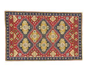 tappeto in puro cotone Chain Stitch Mahmoud - 150x90 cm