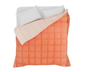 trapunta 1 piazza e mezzo in twill di cotone double rosa - 220x270 cm