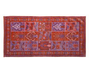 tappeto bagno in prezioso jacquard bakhiari bordeaux - 60x115 cm