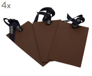 set di 4 confezioni da 3 tessere profumate in gomma soft vanilla
