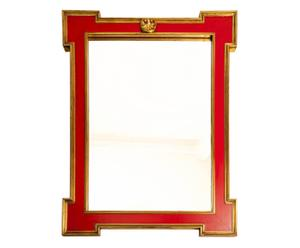 Specchio da parete in legno intagliato - 76x100 cm