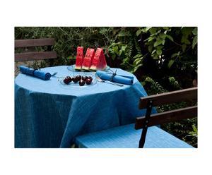 set antimacchia in cotone Rustic (tovaglia+tovaglioli+coprisedia) - 4 posti