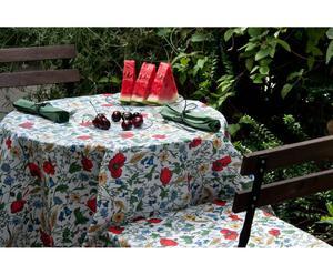 set antimacchia in cotone Estate (tovaglia+tovaglioli+coprisedia) - 4 posti