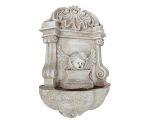 Fontana da parete in resina con pompa per acqua Angel - 33x18x52 cm