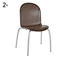 coppia di sedie in alluminio e resina ninfea dinner caffe' - 57x59x89 cm