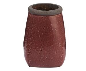 vaso decorativo in terracotta bordeaux maxim - 16x22 cm