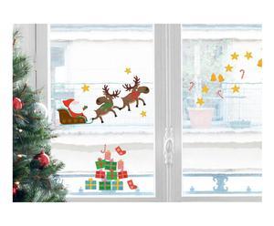 sticker per vetri e finestre babbo natale - 20x32 cm