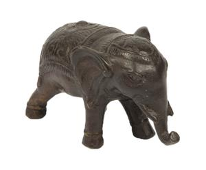 Statua a elefante in bronzo - 13x7x5 cm
