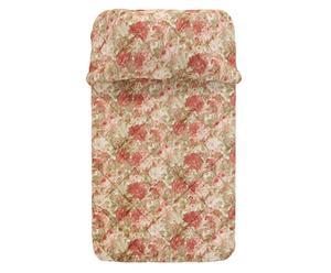 trapunta invernale singola In puro cotone rose&peonie - 180x265 cm