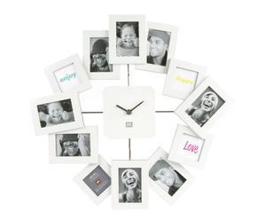 Orologio da muro in polipropilene e metallo bianco Family Time Waver - d 43 cm
