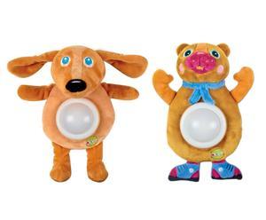 set di 2 luci nanna orso e cane golosoni - 17x30x15 cm