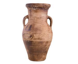 Giara egiziana decorativa in terracotta invecchiata - 80x40 cm