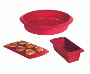 set di 3 stampi per dolci in silicone
