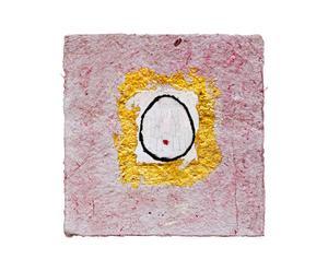 Opera grafica su carta ORECCHINO TRIBALE II - 30x30 cm
