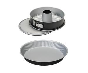 SET DI TORTIERA apribile e stampo crostata in acciaio gourmet