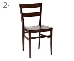 set di 2 sedie in faggio izar wenge' - 43x84x50 cm