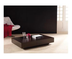tavolino regolabile in alluminio e legno indian wenge' - max 210x84x80 cm